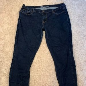 Old Navy Mid Rise Dark Wash Jeans